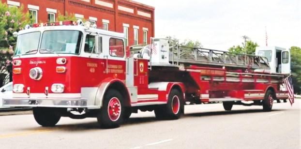 Ladder 49 Firetruck On Display During Sept 11 Observance